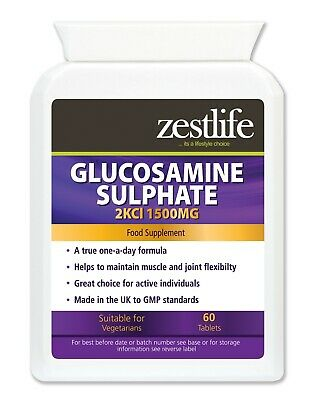 Zestlife Glucosamine Sulphate 2KCl 1500mg 60 tablets-for joints,muscles & tendon