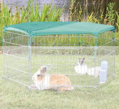 Trixie Net with Sun Protection for Rabbit Run To Fit Hexagon Pet Playpen Cage