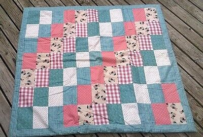 Handmade Blanket Cat Butterfly Flower Cotton Youth Toddler Baby Boy or Girl NEW!