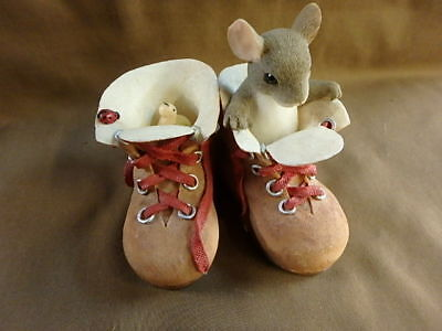 """Charming Tails 98237 """"Who's Going To Fill Your Shoes"""", 3"""" tall, signed"""