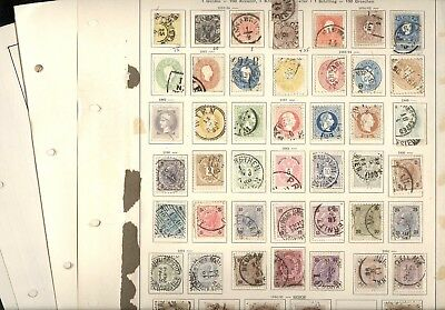 AUSTRIA, Excellent Assortment of OLD Stamps hinged on remainder pages