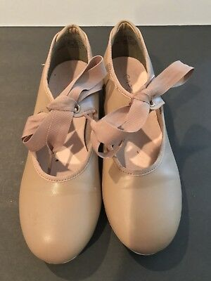 lightly used Capezio  tan Tap Shoes size 2