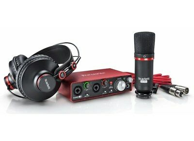 Focusrite Scarlett 2i2 Studio 2nd Generation - Kit Scheda Audio Microfono Cuffia