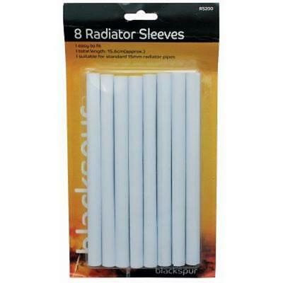 8White Radiator Pipe Sleeves Covers Tubes Inlet Plumbing Central Heating Plastic