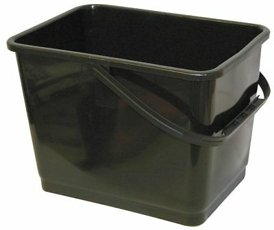 Mallory Squeegee Bucket, 2 gal., Plastic - 864 Black
