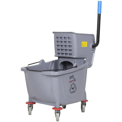 Lavex Janitorial Gray Plastic 36 Quart Mop Bucket & Wringer Combo