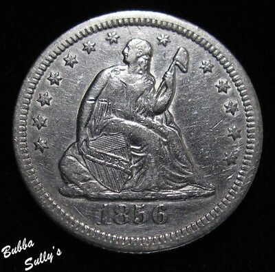 1856 O Seated Liberty Quarter <> EXTREMELY FINE