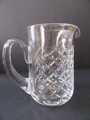 Waterford Crystal Diamond-Cut Pitcher Signed (Mint)
