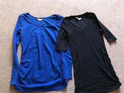 Set Of 2 Maternity Tshirts Tops Size 8/10 Dorothy Perkins
