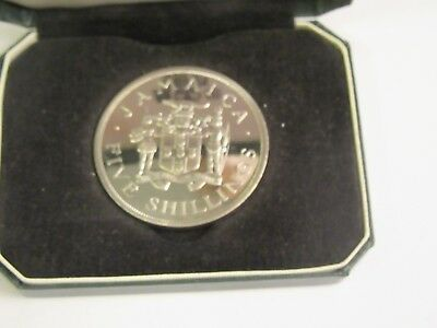 1966 Jamaica VIII British Empire & Commonwealth Games, proof 5 shillings