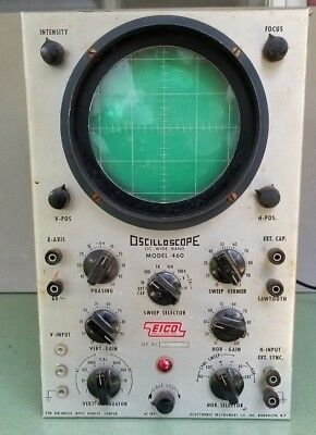 Vintage Oscilloscope EICO Model 460 DC - Wide Band Powers On