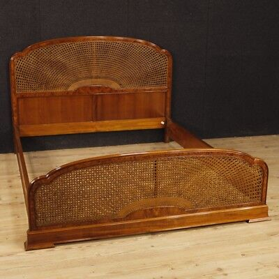 Double bed italian furniture wooden mahogany nut antique style camera 900