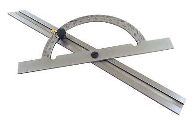 "12"" Hardened Steel NoGlare Protractor Angle Finder Miter Gauge Sliding Bevel Tay"