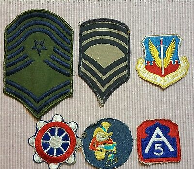 Vintage military patches LOT OF 6
