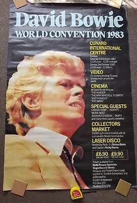 """David Bowie 1983 Convention Poster Large 60""""x40"""" VG condition"""