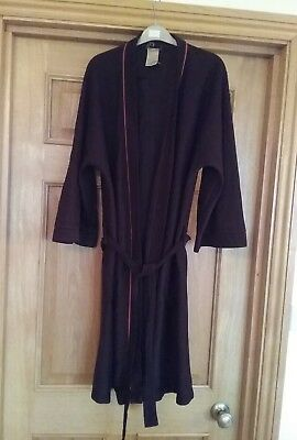 """men's vintage  marks and Spencer  Brown robe  dressing gown 40"""" chest"""