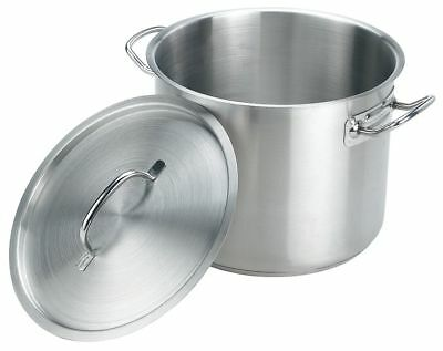 Crestware Stainless Steel Stock Pot w/Cover; Capacity (Qt.): 12 - SSPOT12