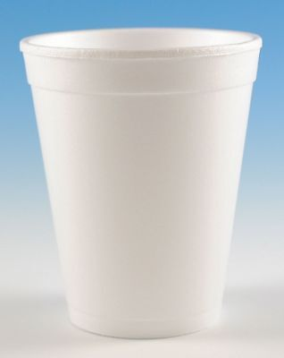 Wincup 10 oz. Disposable Cold/Hot Cup, Foam, White, PK 1000 - H10S