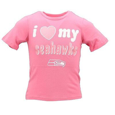 c53dd3d1f Seattle Seahawks Official NFL Apparel Youth Kids Girls Size Pink T-Shirt New