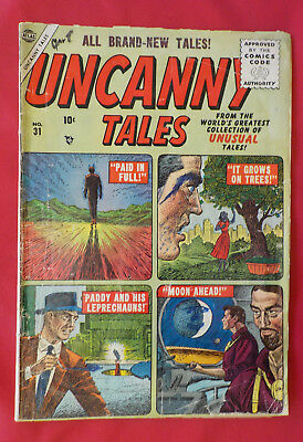 Uncanny Tales #31 ! ATLAS 1955 !  VERY NICE PAGES but...hayfamzone