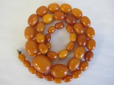 Vintage Genuine Baltic Butterscotch Egg Yolk Amber Bead Necklace
