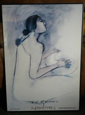 R.C. GORMAN ORIGINAL NAVAJO ART PRINT WOMAN 34x24 1983 Now & Then Gallery Print