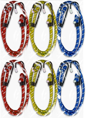 12x 12″ 18″ 24″ Bungee Cord Elastic  Luggage Straps Rope Hooks Stretch Tie Ca...