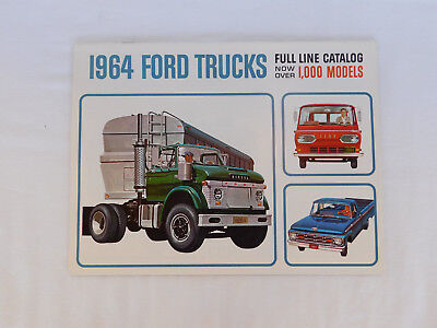 1964 Ford Trucks Full Line Catalog Over 1,000 Models Brochure & Specifications