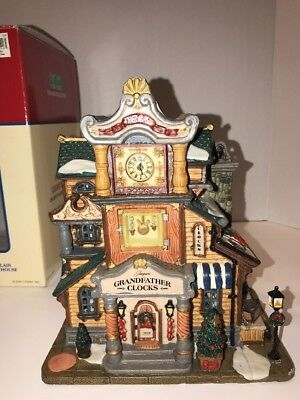 """Lemax Village Collection """" Jacque's Grandfather Clocks """""""