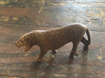 Vintage Carved Collectible Leopard Figurine Miniature