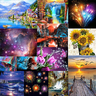 Full Drill 5D Diamond Painting Embroidery Cross Crafts Stitch Room Art Decor DIY