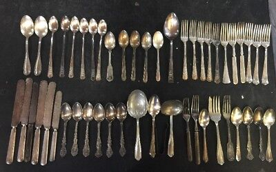 Vintage Lot Of 49  Silverplate Flatware for CRAFT USE  Jewelry Making Lot Y