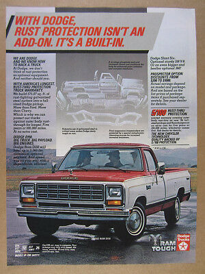 1984 Dodge Ram D150 Pickup Truck color photo vintage print Ad
