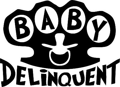 Baby Delinquent Brass Knuckles ... Baby Onesie Shower Raunchy Funny Cute Romper