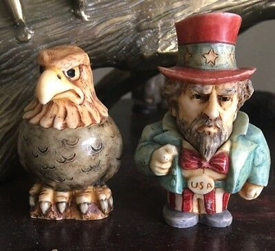 """harmony kingdom Pot Bellys """"Baldy"""" And Uncle Sam 4th Of July"""