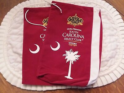 Two South Carolina  Select Club Ultra Premium whiskey Velvet Bag