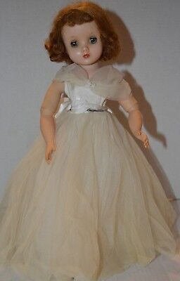 """Vintage 1950s Madame Alexander 16""""  ELISE Doll in Tagged Wedding Gown"""