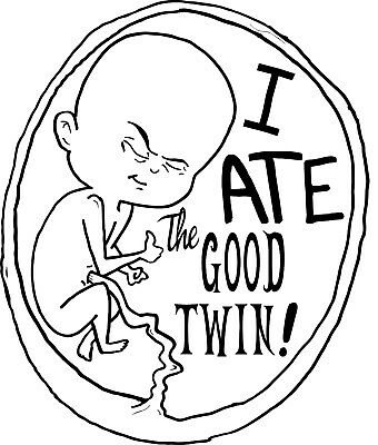 I ATE The GOOD Twin! Funny Cute Baby Onesie Shower Gift Raunchy Romper Infant