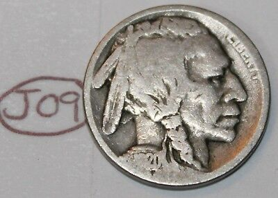 United States 1920 S Buffalo Nickel USA Indian 5 Cents Coin Lot #J09
