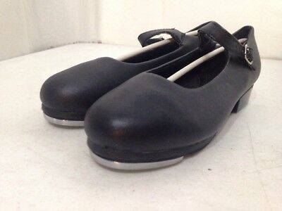Girl's New Black Dance Class Tap Shoes-Size 7