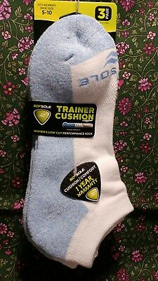 Sofsole Trainer Cushion Low Cut Performance Sock-- 3 Pr --Women's Size 5-10