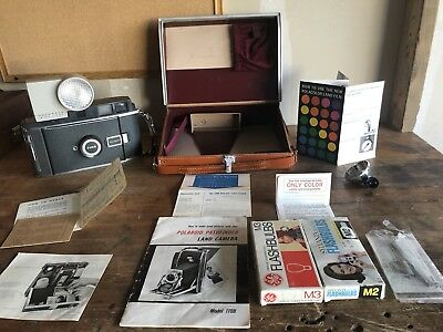 Polaroid 110B In Case With Accessories 127Mm Lens Vintage Land Camera