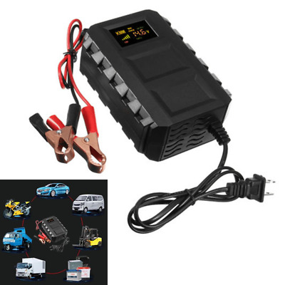 12V 20A Car Motorcycle Smart Fast Lead-acid Battery Charger LCD Display US Plug