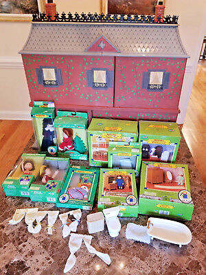 Collectible Madeline's Old House in Paris Dollhouse + Furniture Dolls HUGE LOT