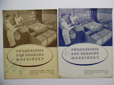 1935 Philadelphia Metal Works Egg Grading Machinery Catalog Poultry Farm Vintage