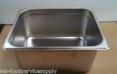 """(Lot Of 6) Half Size 6"""" Deep Stainless Steamtable Pans Hot Food Table Steam Pan"""