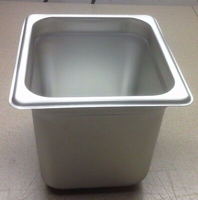 """(Lot Of 6) Sixth Size 6"""" Deep Stainless Steamtable Pans Hot Table Food Steam Pan"""