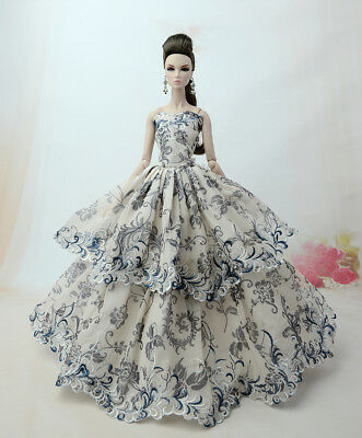 Fashion Princess Party Dress/Evening Clothes/Gown For Barbie Doll S355