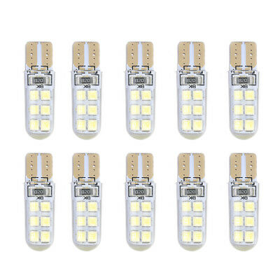 10Pcs DC 12V T10 2835 LED Canbus Super Bright Car Width Lights Lamps Bulbs White