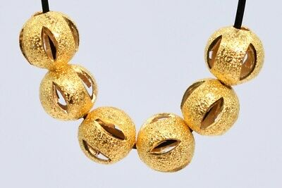 20 Pcs 6MM Gold Tone Round Spacer Beads